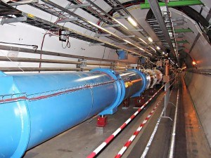 Tunnel of the Large Hadron Collider at CERN. | Image: Wikimedia/Julian Herzog