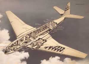 Cut-away image of the Comet Jet Airliner