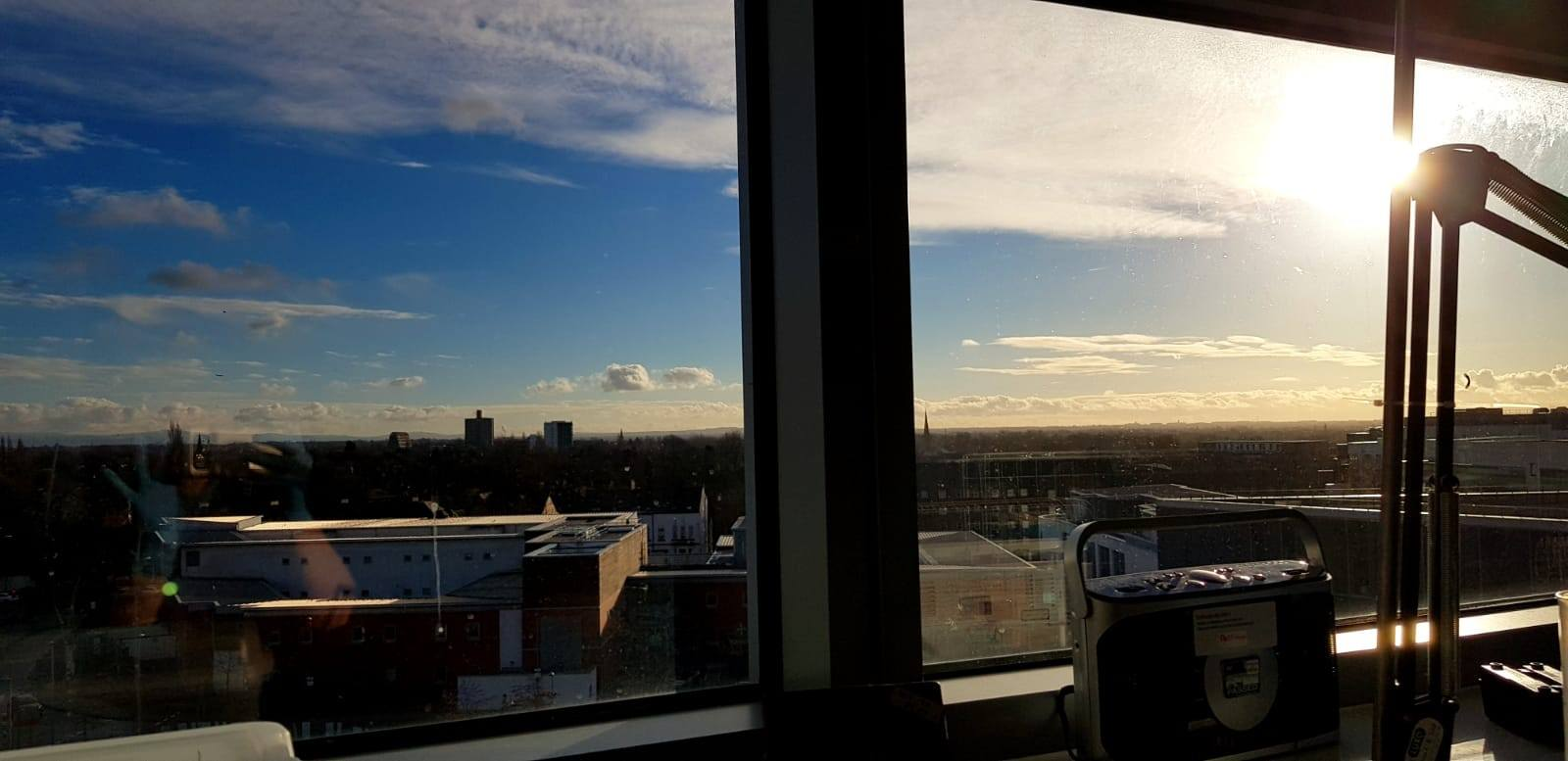 View from the window in my lab